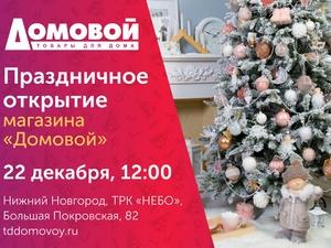 Первый в Нижнем Новгороде гипермаркет товаров для дома «Домовой» откроется в ТРК «НЕБО»