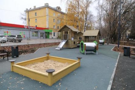 Шахматные столы и детская площадка появились в нижегородском сквере Целинников