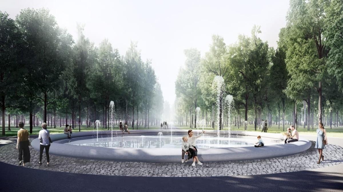 Подрядчик приступил к отделке фонтана с бетонной чашей в парке «Швейцария» - фото 1