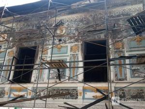 Каминный зал Литературного музея пострадал в пожаре больше всего