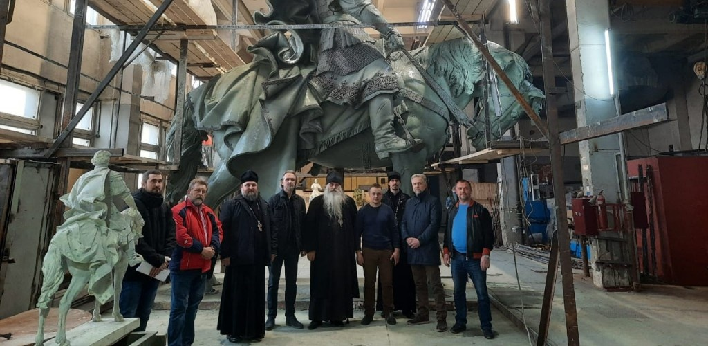 Макет памятника Александру Невскому для Нижнего Новгорода изготовили в Москве - фото 1