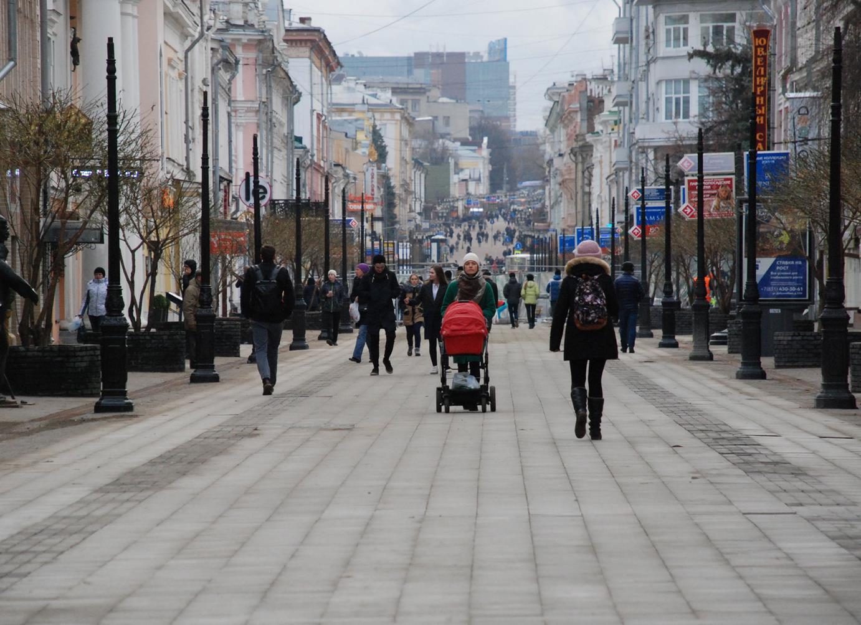 Работы поблагоустройству улицы Большой Покровской выполнены на70%