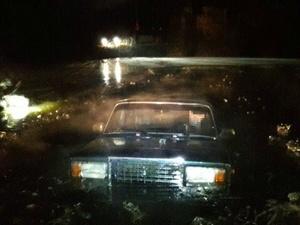 Автомобиль с телом мужчины внутри извлекли из пруда в Автозаводском районе