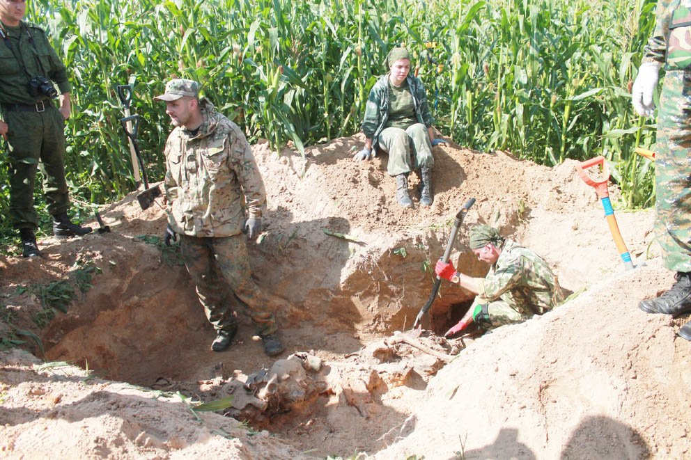 Нижегородские поисковики нашли останки красноармейцев в Беларуси - фото 1