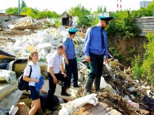 Росприроднадзор запретил въезд на несанкционированную свалку в Советском районе