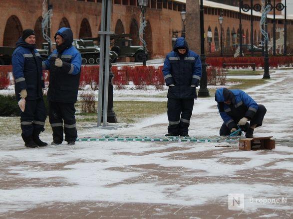Нижегородский кремль начали украшать к Новому году - фото 7