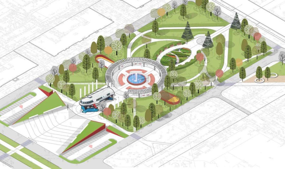 Амфитеатр и навес с качелями предложено использовать для благоустройства площади Буревестника - фото 4