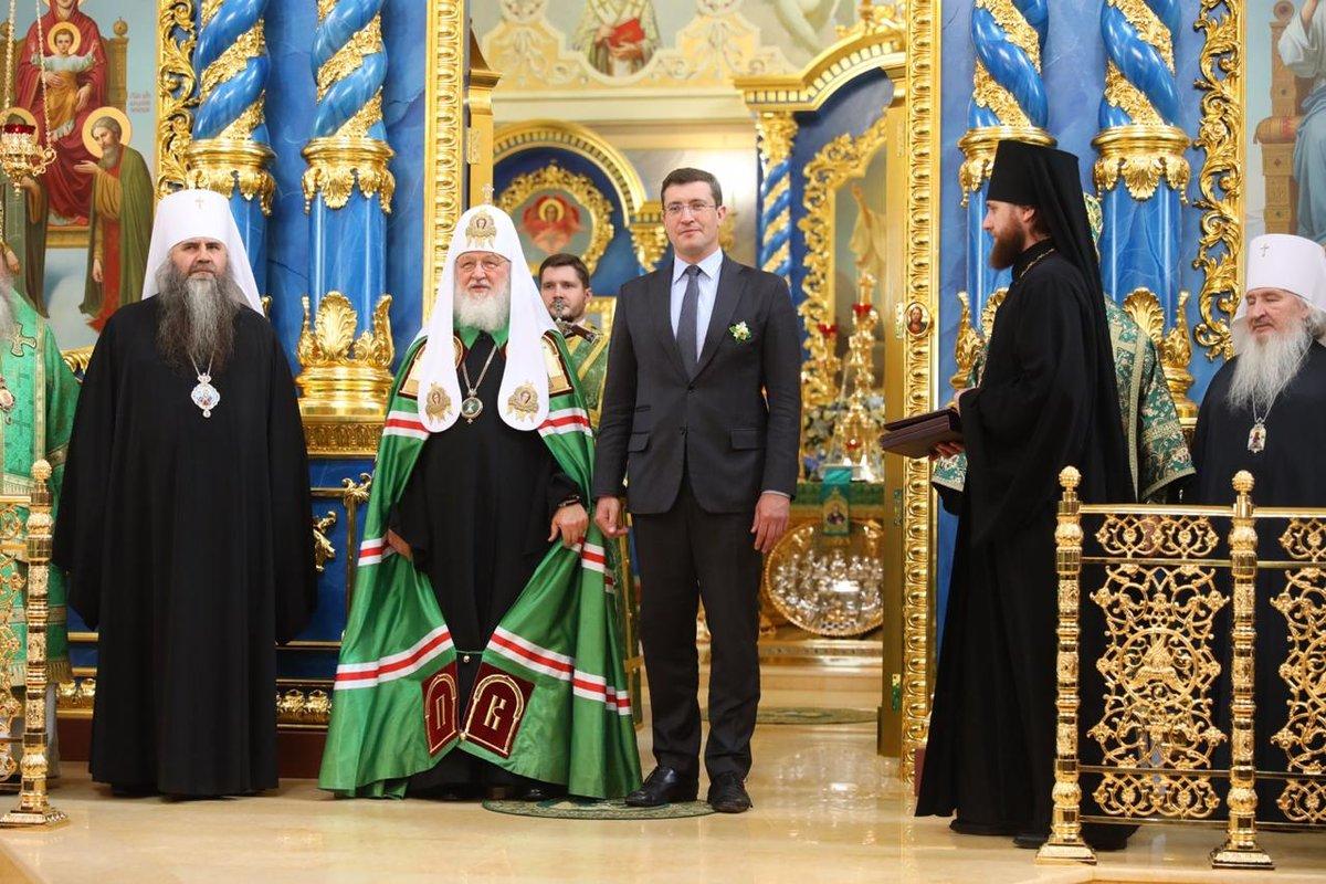 Трехсотлетний крест с 73 частицами мощей вручил Патриарх Кирилл монастырю в Сарове - фото 2